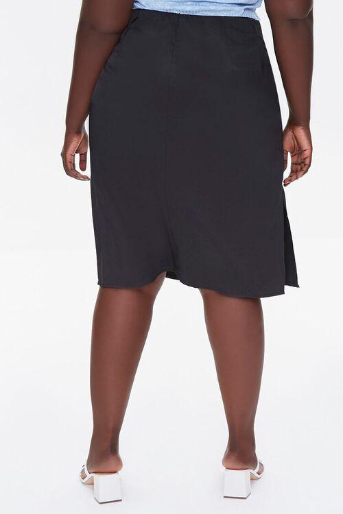 BLACK Plus Size High-Rise Slit Skirt, image 4