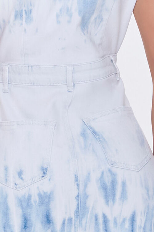 Bleach Dye Denim Mini Dress, image 5