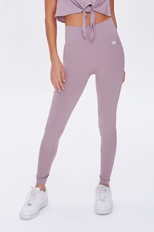 DUSTY LAVENDER Active Seamless High-Rise Leggings, image 2