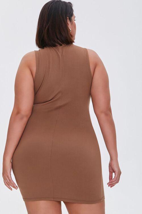 MOCHA Plus Size Mini Sleeveless Dress, image 3