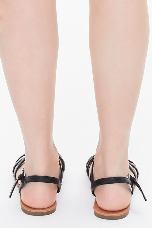 Rhinestone Strappy Sandals, image 3