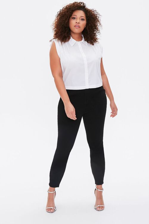 Plus Size Cap-Sleeve Shirt, image 4