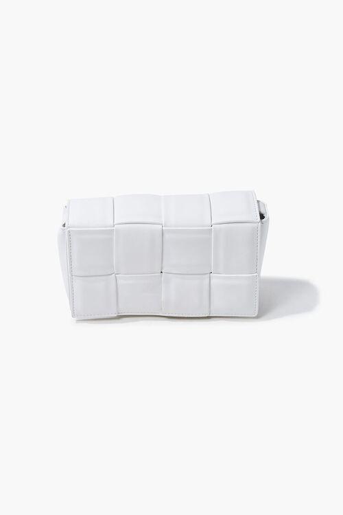 Faux Leather Crosshatch Crossbody Bag, image 3
