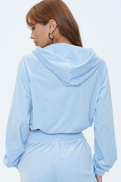 Velour Zip-Front Hoodie, image 3