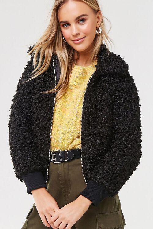 Boucle Knit Teddy Jacket, image 5