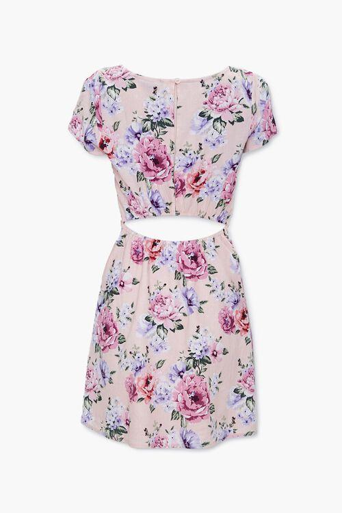 Floral Print Cutout Dress, image 2