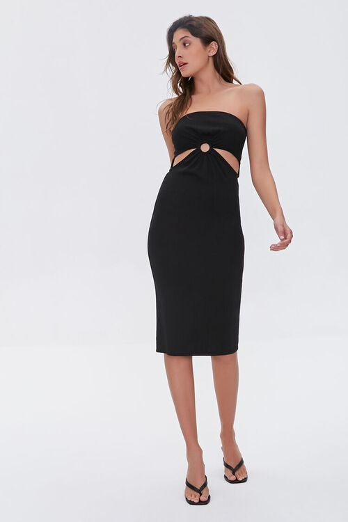 BLACK Cutout Bodycon Dress, image 5