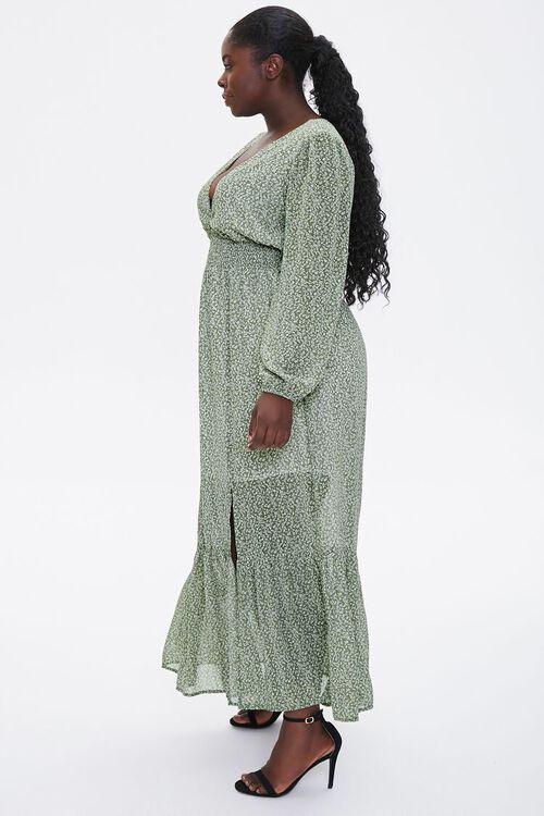 Plus Size Floral Peasant Maxi Dress, image 2
