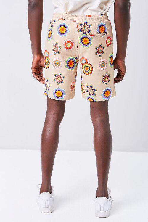 Floral Print Drawstring Shorts, image 4