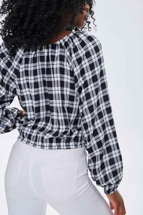 Plaid Peasant Top, image 3