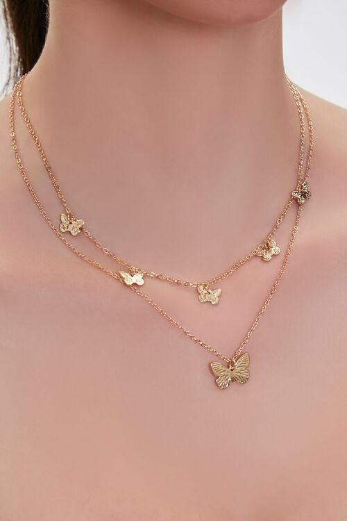 Butterfly Layered Necklace, image 1