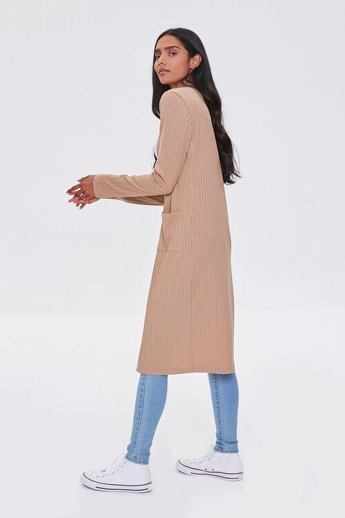 TAUPE Longline Cardigan Sweater, image 2