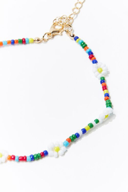 Daisy Charm Beaded Anklet, image 2