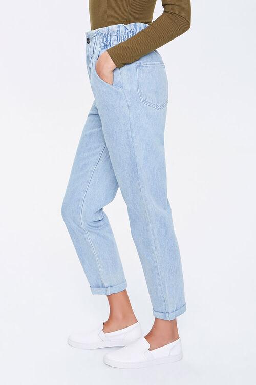 DENIM WASHED Paperbag Mom Jeans, image 3