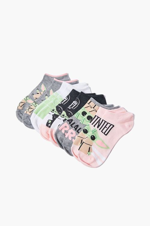 Baby Yoda Graphic Ankle Socks - 5 Pack, image 2