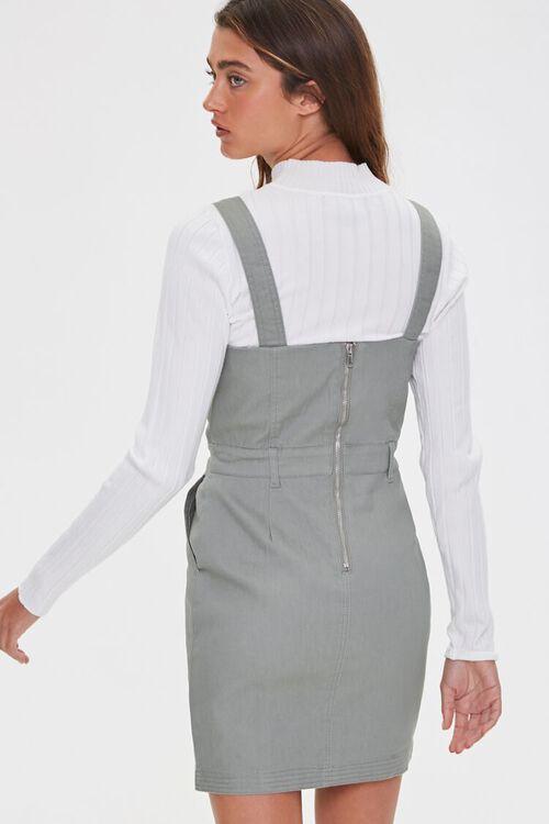 SAGE Pinafore Mini Dress, image 3