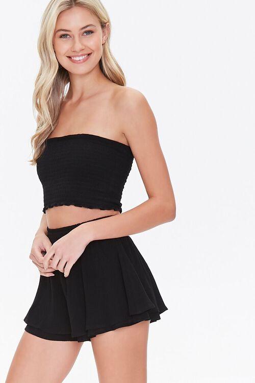 Layered Flounce Mini Skirt, image 1