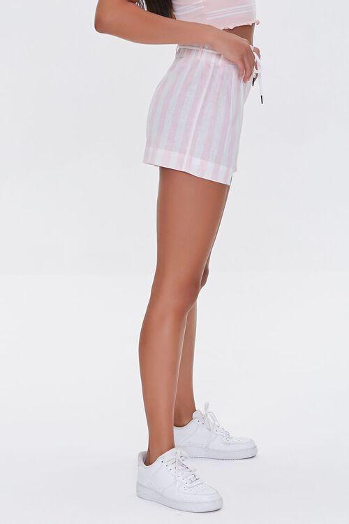Striped Drawstring Paperbag Shorts, image 3