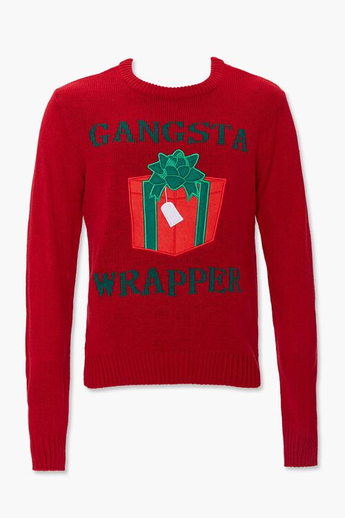 Gangsta Wrapper Graphic Knit Sweater, image 1