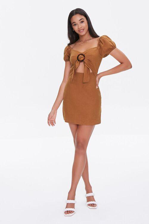 CHESTNUT Cutout Mini Dress, image 4