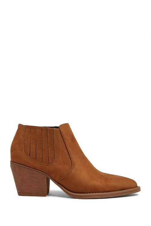BROWN Faux Suede Chelsea Boots, image 1