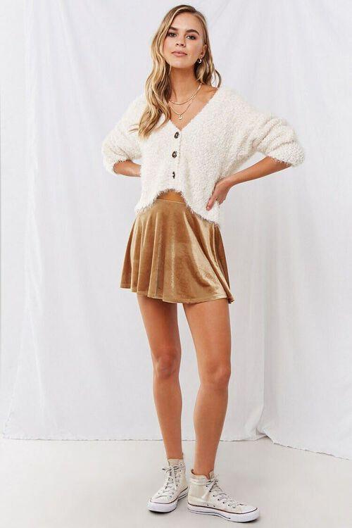 Velvet Mini Skater Skirt, image 4
