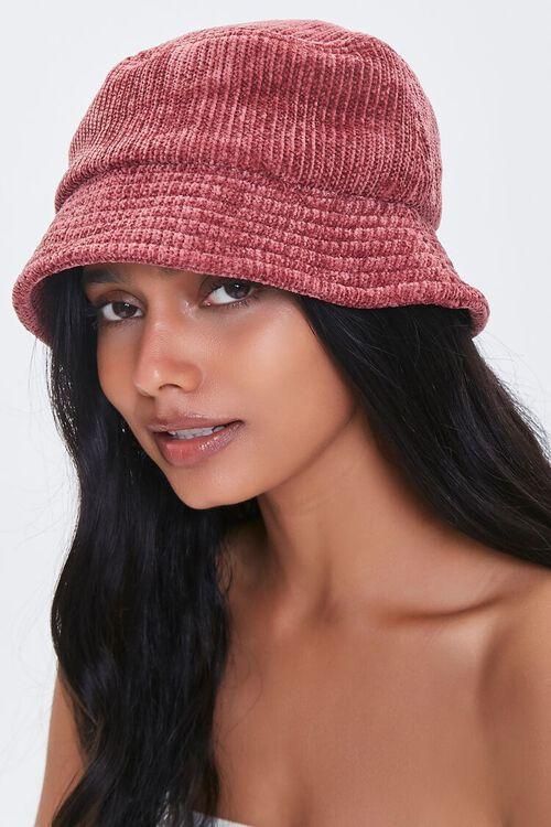 BURGUNDY Knit Bucket Hat, image 2