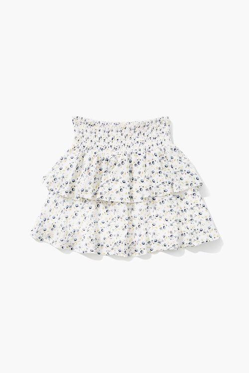 Girls Floral Print Flounce Skirt (Kids), image 1
