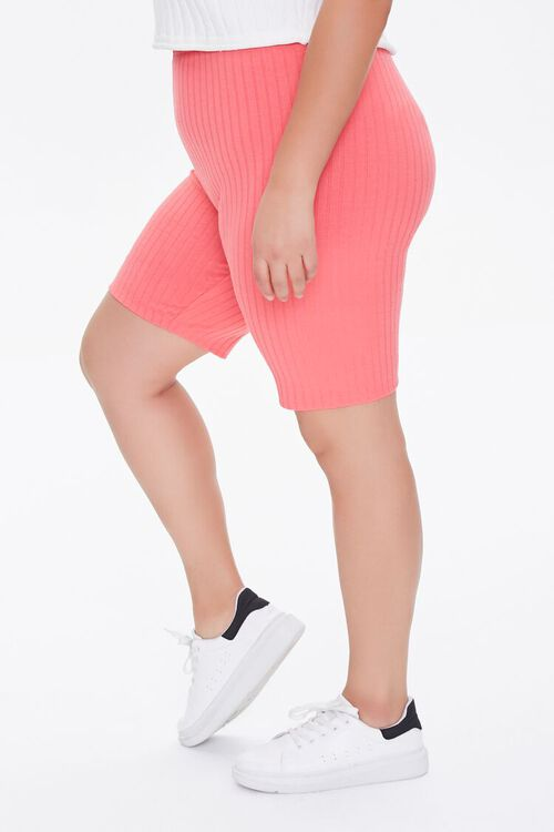 Plus Size Ribbed Biker Shorts, image 3