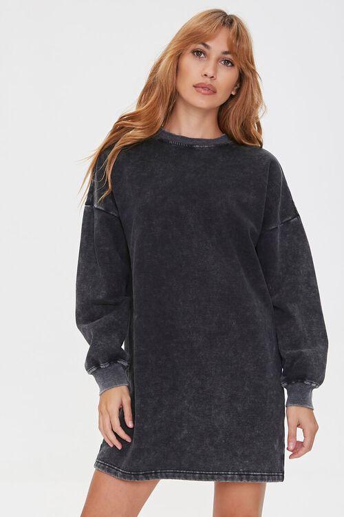 Fleece Sweatshirt Dress, image 1