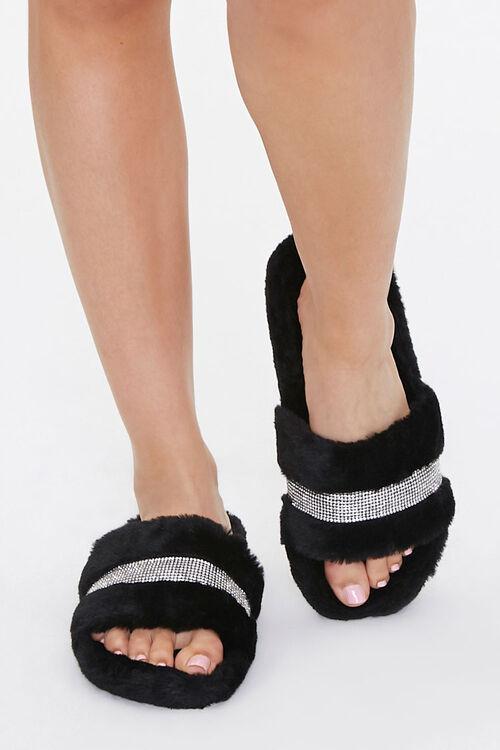 Plush Rhinestone Slippers, image 4