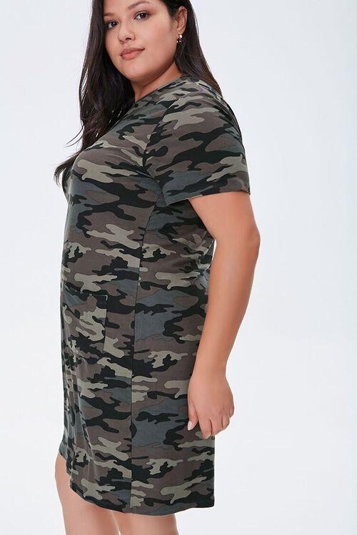 Plus Size Camo T-Shirt Dress, image 2