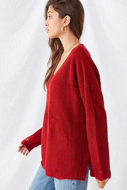 Distressed Longline Sweater, image 2