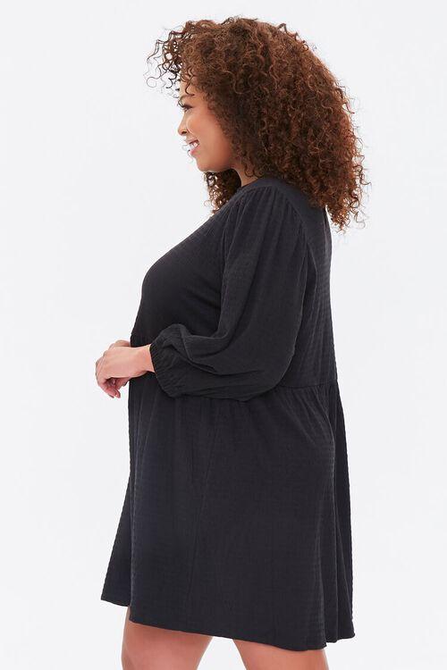 Plus Size Textured Mini Dress, image 2