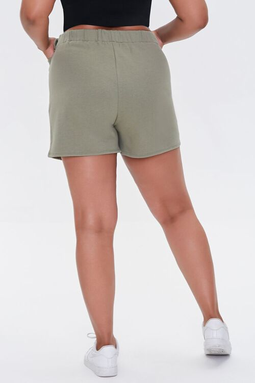 Plus Size Fleece Tie-Waist Shorts, image 4