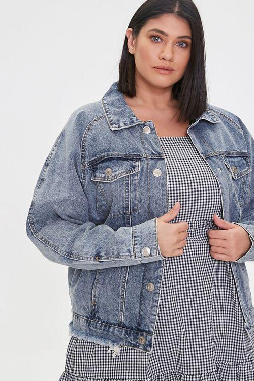 Plus Size Denim Button-Front Jacket, image 1