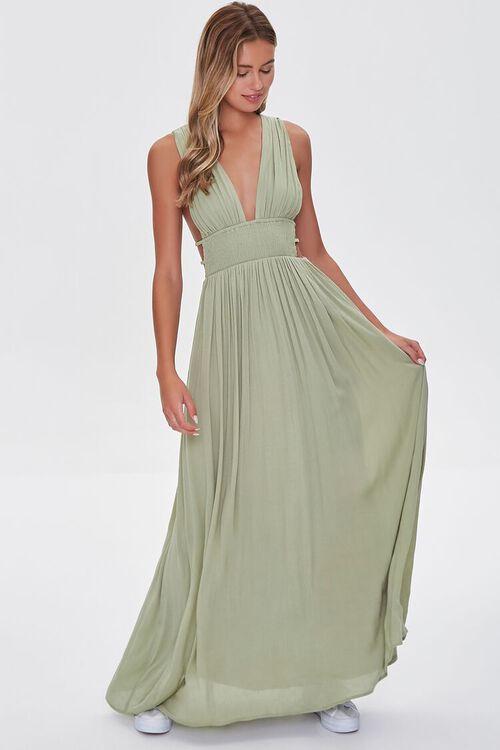 Plunging Maxi Dress, image 5