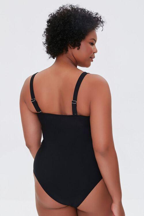Plus Size Bow Cutout One-Piece Swimsuit, image 3
