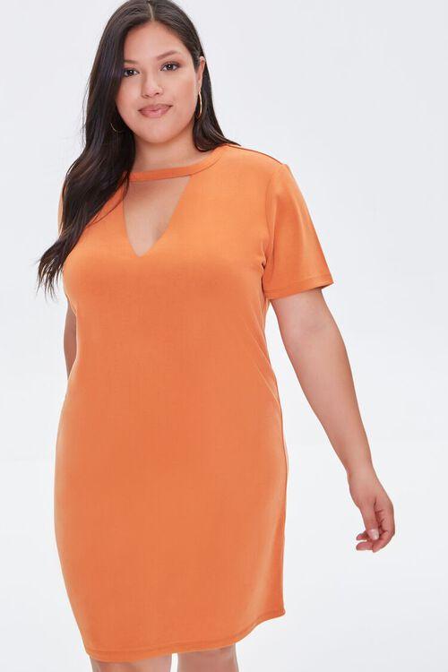 Plus Size Cutout T-Shirt Dress, image 1