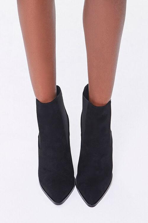 Faux Suede Stiletto Chelsea Boots, image 4