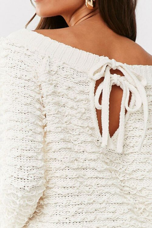 CREAM Off-the-Shoulder Loop-Knit Sweater, image 5