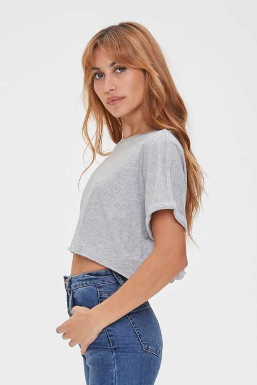 Cropped Cotton Crew Tee, image 2