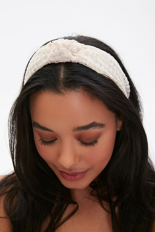Floral Lace Headband, image 1