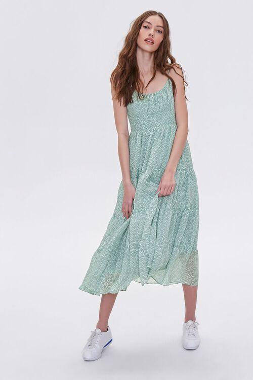 Spotted Print Cami Midi Dress, image 3