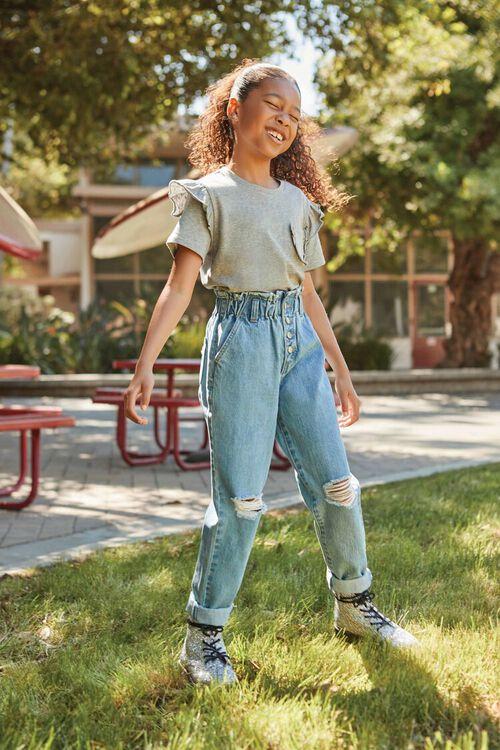 Girls Paperbag Jeans (Kids), image 1