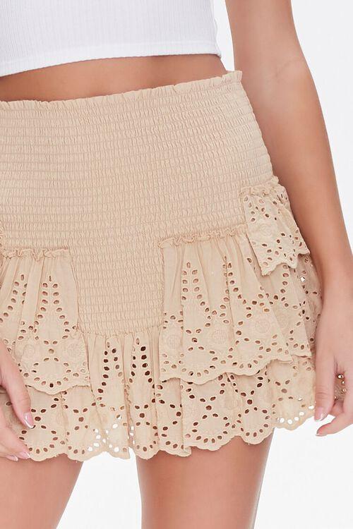 Smocked Flounce Mini Skirt, image 5