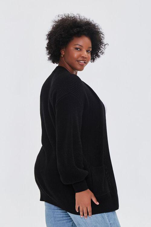 Plus Size Patch-Pocket Cardigan Sweater, image 2