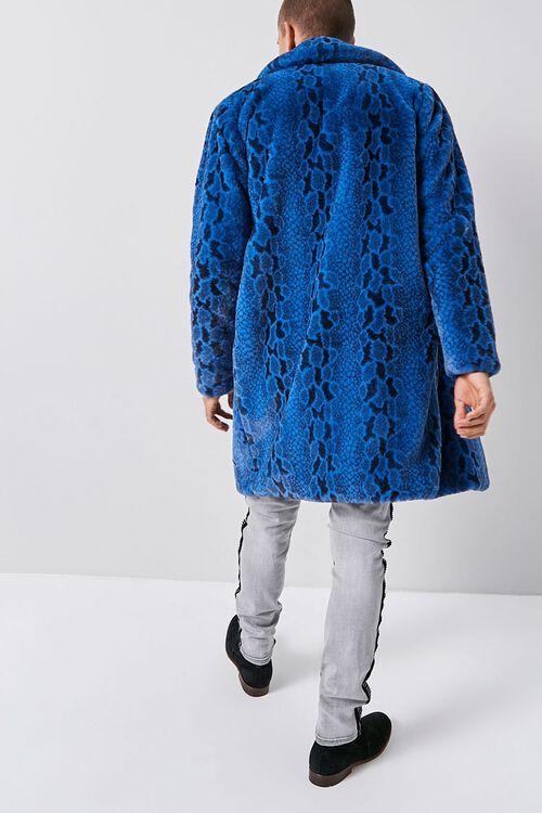 Faux Fur Snakeskin Print Coat, image 3