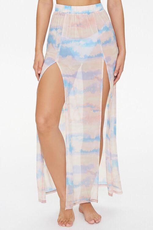 Cloud Wash Mesh Swim Cover-Up Skirt, image 2