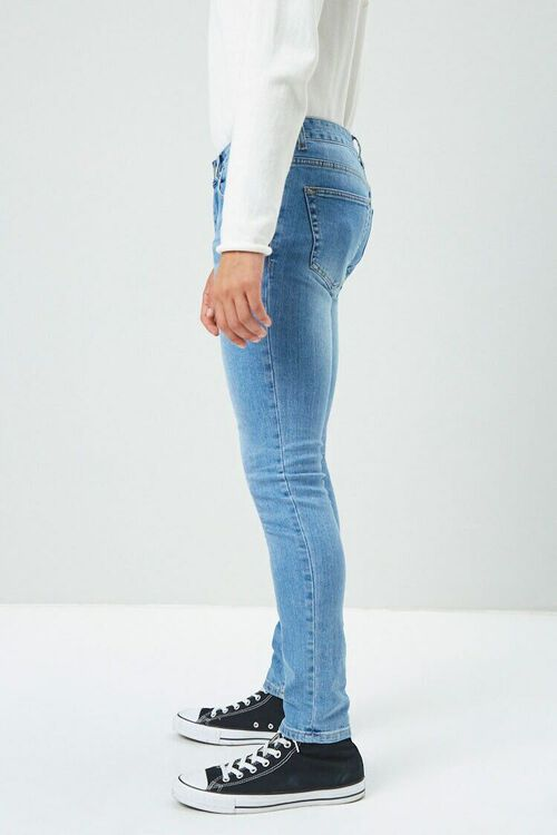 Faded Wash Skinny Jeans, image 3
